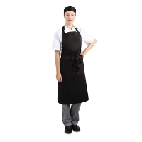 Bib Apron Polycotton Black