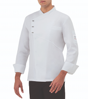 Giblor Emmanuel Chef Jacket Long Sleeve White