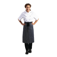 Butchers Stripe Apron - Blue & White