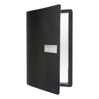 Raw Leather Menu A4 Black
