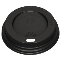 Fiesta Black Lid for Coffee Cups 8oz (50 Per Pack)