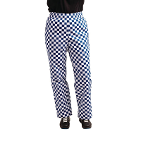 Whites Teflon Easyfit Trousers -Big Blue Check
