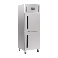 Polar Upright Stable Door Gastro Refrigerator 600Ltr
