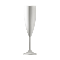 BBP Polycarbonate Champagne Flute 187ml White