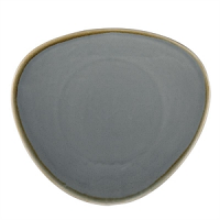 Olympia Kiln Triangular Plate Ocean 11'' 280mm (4 Per Case)