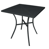 Black Steel Patterned Square Bistro Table 700mm