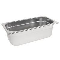 Stainless Steel Gastronorm Pan - 1/3 Size 100mm deep