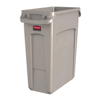 Rubbermaid Slim Jim Container with Venting Channels Beige - 60Ltr
