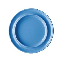 "Olympia Heritage Blue Raised Rim Plate - 8"" (Box 4)"