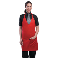 Chef Works Unisex Tuxedo Apron Red