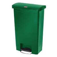 Rubbermaid Slim Jim Step on Bin Front Pedal 50Ltr Green