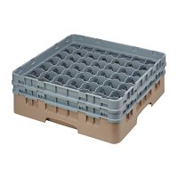 Cambro Camrack Beige 49 Compartments Max Glass Height 133mm