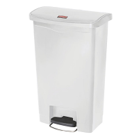 Rubbermaid Slim Jim Step on Bin Front Pedal 50Ltr White