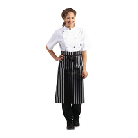Butchers Black & White Stripe Apron
