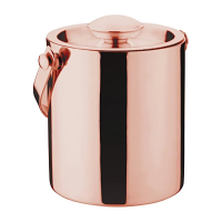 Olympia Copper Barware Ice Bucket Double Wall With Lid 2Ltr