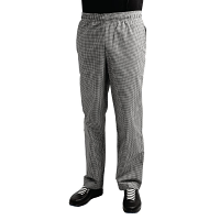 Whites Teflon Easyfit Trousers -Small Black Check