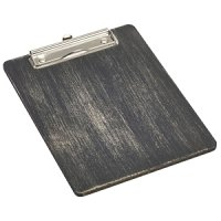 Black Wooden Menu Clipboard A5 18.5x24.5x0.6cm