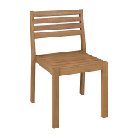 Bolero Eucalyptus Wood Terrace Side Chairs Natural Finish