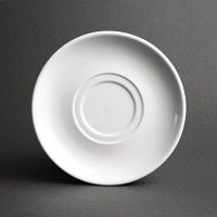Olympia Heritage White Double Well Saucer - (Box 6)
