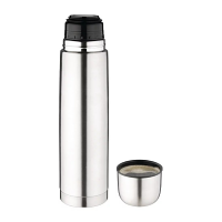 Olympia Vacuum Flask Stainless Steel - 1Ltr