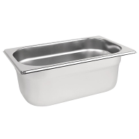 Stainless Steel Gastronorm Pan - 1/4 Size 100mm deep