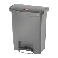 Rubbermaid SLIM JIM CONTAINER 30L RESIN FRONT STEP STEP-ON GREY