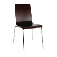 Bolero Square Back Sidechair Dark Chocolate Finish (Pack of 4)