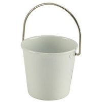 Stainless Steel Miniature Bucket 4.5cm Dia White