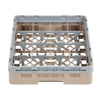 Cambro Camrack 16 Compartment Glass Rack Beige - Max Height 92mm