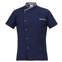 Giblor Jacopo Chef Jacket Short Sleeve Blue