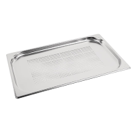 Stainless Steel Perforated Gastronorm Pan - 1/1 Size 20mm deep