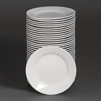 Special Offer - Athena Hotelware Wide Rimmed Plate 8 in Bulk Buy 36 Pack