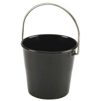 Stainless Steel Miniature Bucket 4.5cm Dia Black
