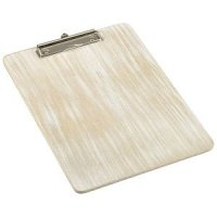 White Wash Wooden Menu Clipboard A4 24x32x0.6cm