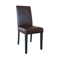 Bolero Faux Leather Dining Chair Antique Brown (Pack of 2)