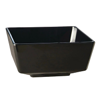 Float Square Bowl Melamine Black - 190x190mm