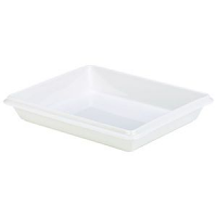 Royal Genware Gastronorm Dish 1/2 55mm White