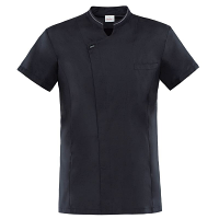 Giblor Apollo Chefs Jacket Short Sleeve Black