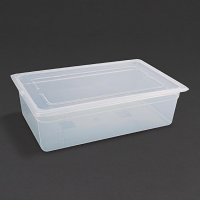 Vogue Polypropylene 1/1GN Pan with Lid 150mm