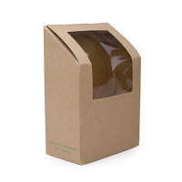 Compostable Tortilla/Wrap Window Box (Box 500)