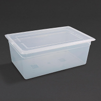 Vogue Polypropylene 1/1GN Pan with Lid 200mm