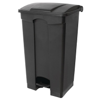 Jantex Kitchen Pedal Bin Black 45Ltr