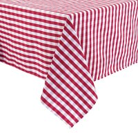 Gingham Tablecloth Red