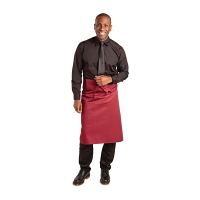 Whites Regular Bistro Apron Burgundy - 1000x700mm 39.4x27.5""