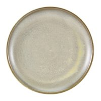 Terra Porcelain Matt Grey Coupe Plate 24cm