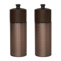Olympia Copper Wood Salt and Pepper Mill Set