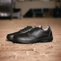 Abeba X-Light Microfiber Lace Up Safety Shoe Black