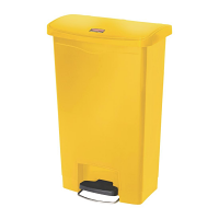 Rubbermaid Slim Jim Step on Bin Front Pedal 50Ltr Yellow