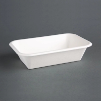 Compostable Food Tray - 32oz 215x140x37mm (Pack 50)