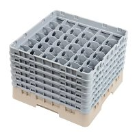 Cambro Camrack Beige 36 Compartments Max Glass - Height 298mm